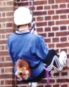 Harry goes abseiling