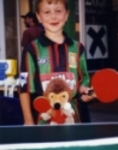 Harry playing table tennis