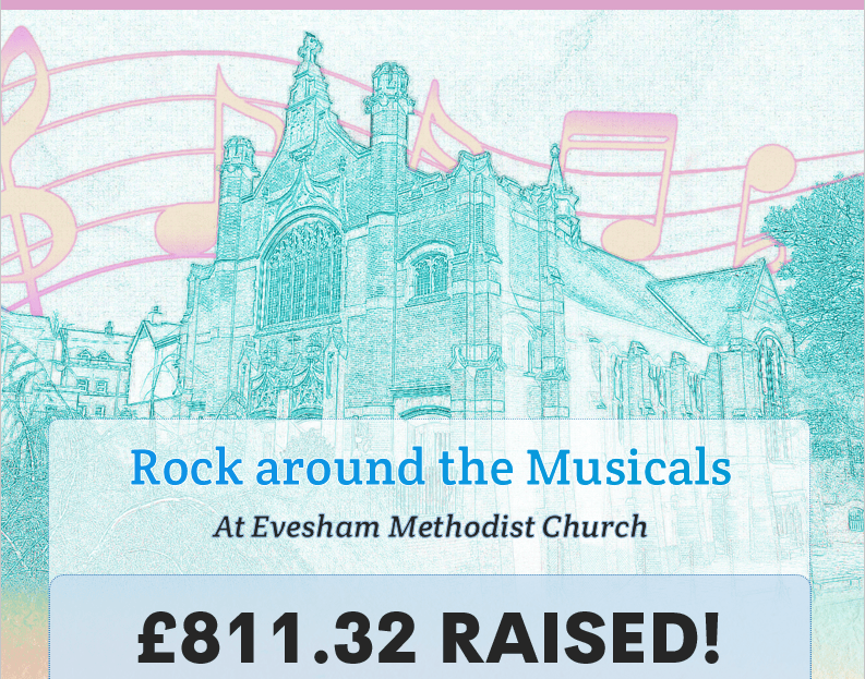 Charity Concert – Rock around the Musicals – Raises £811.32!
